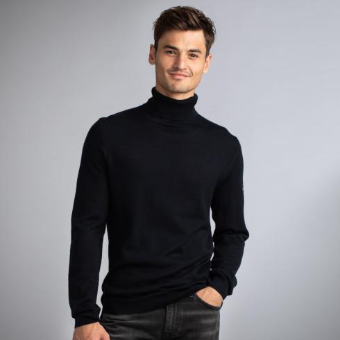 Turtle-Neck Pullover NIGHT BLUE | XXL