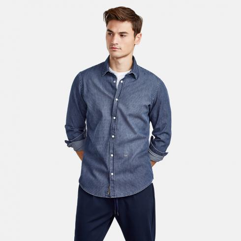 Denimhemd mit Kentkragen NIGHT BLUE | 45/46