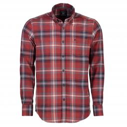 Langarmhemd in Flanell-Check