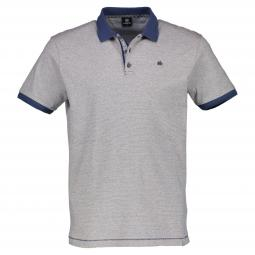 Halbarm Polo-Shirt in Streifenoptik
