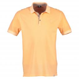 Halbarm Polo im Used-Look